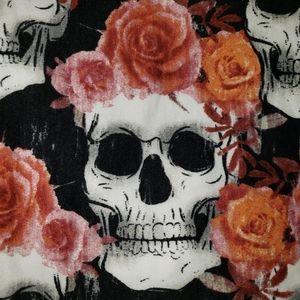 Lularoe Halloween 2020 Skull w Rose crown